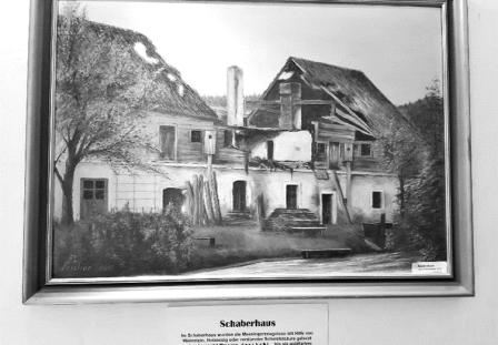 schaberhaus schwarz weiß