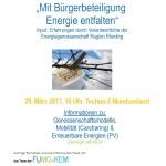 """Infoveranstaltung """"Mit Bürgerbeteiligung Energie entfalten"""""""