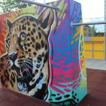 Graffiti-Workshop im Freizeitpark FIPAMOLA mit Künstler Max Wesenauer